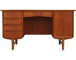 Tekowe biurko, Dania, lata 70.