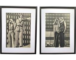 Para oprawionych zdjęć modowych, lata 70.