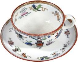 Fajansowa filiżanka, Maastricht Societe Ceramique, Holandia, koniec XIX w.