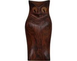 Palisandrowa figurka sowy, Dania, lata 70.