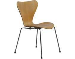Krzesło 3107, proj. A. Jacobsen, Fritz Hansen, Dania, lata 80.