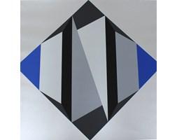 Serigrafia na papierze Kompozycja geometryczna, aut. H. Sundhaußen, Niemcy, lata 70.