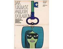 Plakat filmowy Jak ukraść milion dolarów, aut. M. Hibner, Polska, 1968 r.