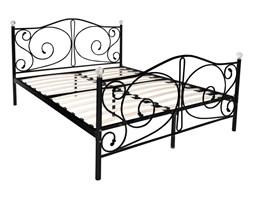 Łóżko metalowe Kanto 160x200 - czarne