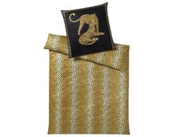 Pościel satynowa Elegante Gepard Pair Black