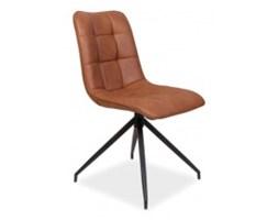 Krzesło tapicerowane Doris brązowe