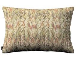Dekoria Poszewka Kinga na poduszkę prostokątną, akwarelowy wzór jodełki w odcieniu różowo- beżowym, 60 × 40 cm, Tropical Island