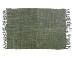 HomeHood Lniany dywan w kolorze wojskowej zieleni z frędzlami(155x215)