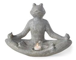 Świecznik Żaba jogin