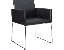 Krzesło Livorno czarne ekoskóra