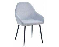 Krzesło tapicerowane do jadalni szare/czarne