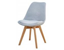 Krzesło tapicerowane do jadalni szare scandi