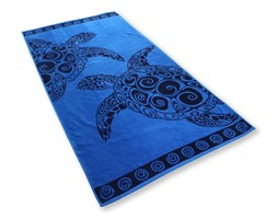 Ręcznik kąpielowy DecoKing Navy Turtle, 90x180 cm