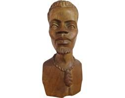 Figurka Afrykanina z drewna, lata 70.