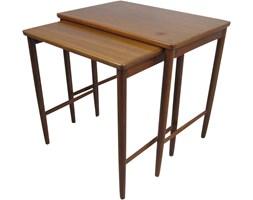 Para tekowych stolików, Opal Mobel, Niemcy, lata 60.