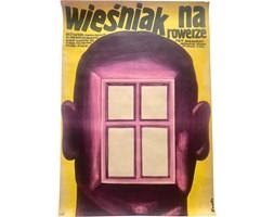 Plakat filmowy Wieśniak na rowerze, aut. R. Socha, Polska, 1975 r.