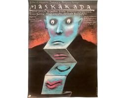 Plakat filmowy Maskarada, proj. A. Pągowski, 1987 r.