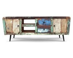 Indiapata - Szafka RTV wykonana w 100% ręcznie z drewna odzyskanego ze starych domów i łodzi pochodzenia indyjskiego. Drewno odzyskane