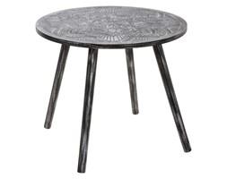 Stolik kawowy do salonu MANDALA, okazjonalny, okrągły, drewniany