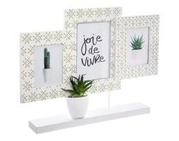 Ramki na zdjęcia stojące, ramka do zdjęć ozdobna ze sztucznym kaktusem, multirama biała