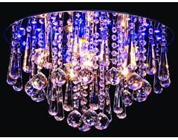 Piękna plafoniera kryształowa LED SYLVANIA P-H 693C/45 CR
