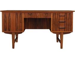 Palisandrowe biurko, proj. G. N. Tibergaard, lata 70.