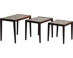 Komplet trzech stolików kawowych, Dania, lata 70.