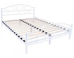 Łóżko metalowe Arrigo 140x200 - białe