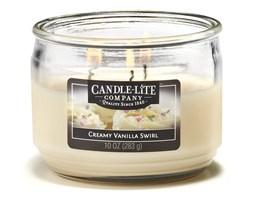 Świeca zapachowa Candle-lite trzy knoty 283 g - Creamy Vanilla Swirl
