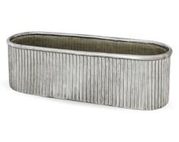 ANTIQUE osłonka owalna srebrna, 12x39x13 cm
