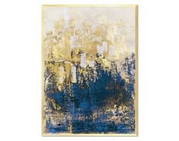 GELER obraz złota abstrakcja w złotej ramie, 53x73 cm