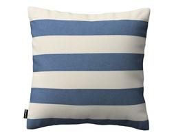 Dekoria Poszewka Kinga na poduszkę, niebiesko - białe pasy (5,5cm), 43 × 43 cm, Quadro