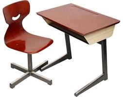 Biurko z krzesłem z giętej sklejki dla dziecka, Niemcy, lata 70.