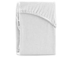 Białe elastyczne prześcieradło dwuosobowe AmeliaHome Ruby White, 220-240x220 cm