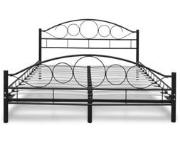 Nowoczesne metalowe łóżko ze stelażem 140x200 - czarne B12