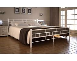 Nowoczesne metalowe łóżko ze stelażem 140x200 - białe B11