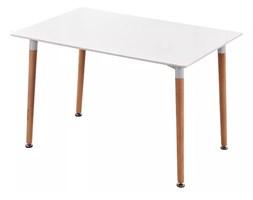Nowoczesny stylowy prostokątny stół - biały - 120x80cm