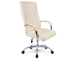 Fotel biurowy skórzany profilowany BS002 - beżowy