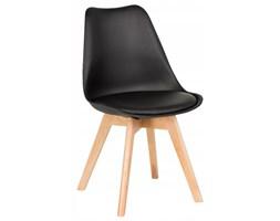 Nowoczesne krzesła skandynawskie z poduszką - czarne