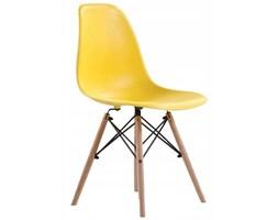 Nowoczesne krzesła skandynawskie - żółte