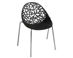 Modne nowoczesne ażurowe krzesła skandynawskie 505 - czarne