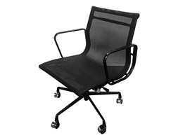 Fotel biurowy BODY PREMIUM czarny - tkanina, aluminium