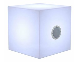 NEW GARDEN lampa przenośna CUBY 20 PLAY biała - LED, wbudowany głośnik