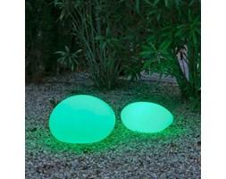 NEW GARDEN lampa ogrodowa PETRA 40 SOLAR biała - LED, sterowanie pilotem