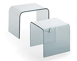 Stolik szklany PRIAM DUO - transparentny