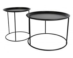 Zestaw stolików VISION czarne - zdejmowana taca, metal
