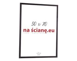 Drewniana ramka na plakat, zdjęcie 70 x 50 cm, czarna, bejcowana