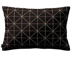 Dekoria Poszewka Kinga na poduszkę prostokątną, czarno-beżowy ze złotą nitką, 60 × 40 cm, Black & White