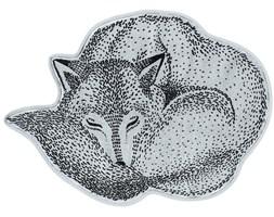 Dywan Sleeping Wolf 82x60 cm niebieski