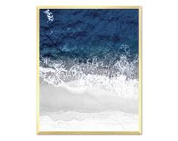 BRZEG MORZA obraz w złotej ramie, 43x53 cm